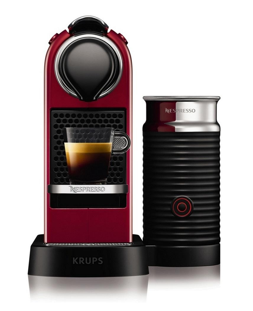 Krups XN760540 Nespresso Citiz & Milk Coffee Maker Machine Aeroccino Red Electrical Deals