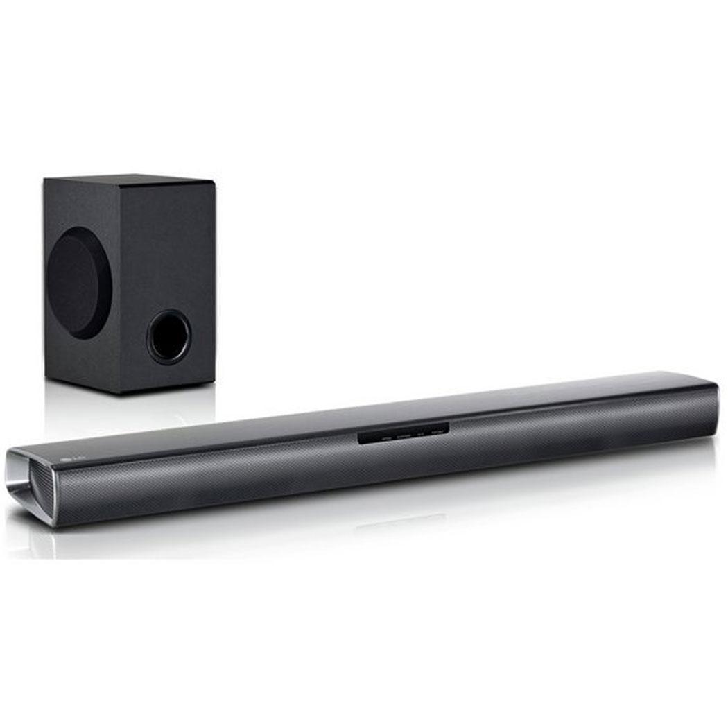 LG SJ2 160W 2 1ch Bluetooth Soundbar With Wireless Subwoofer Black
