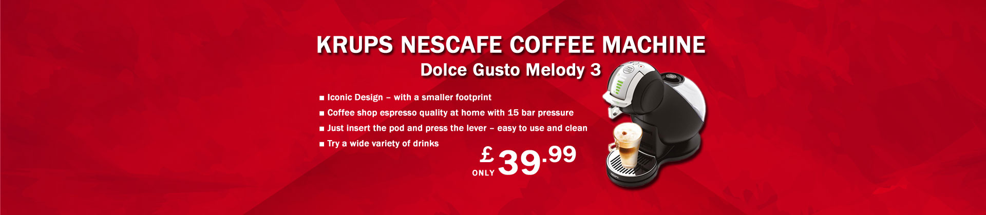 Krups KP230840 Nescafe Coffee Pod Machine only £39.99