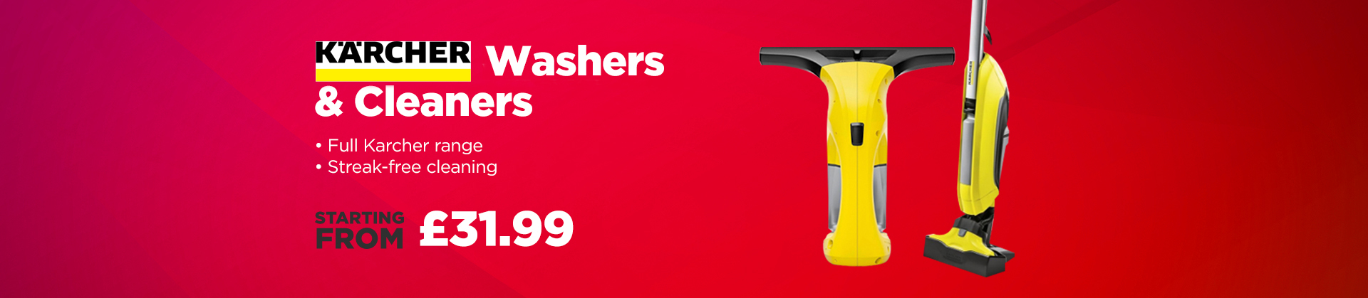 Great delas on Karcher Washers and Cleaners