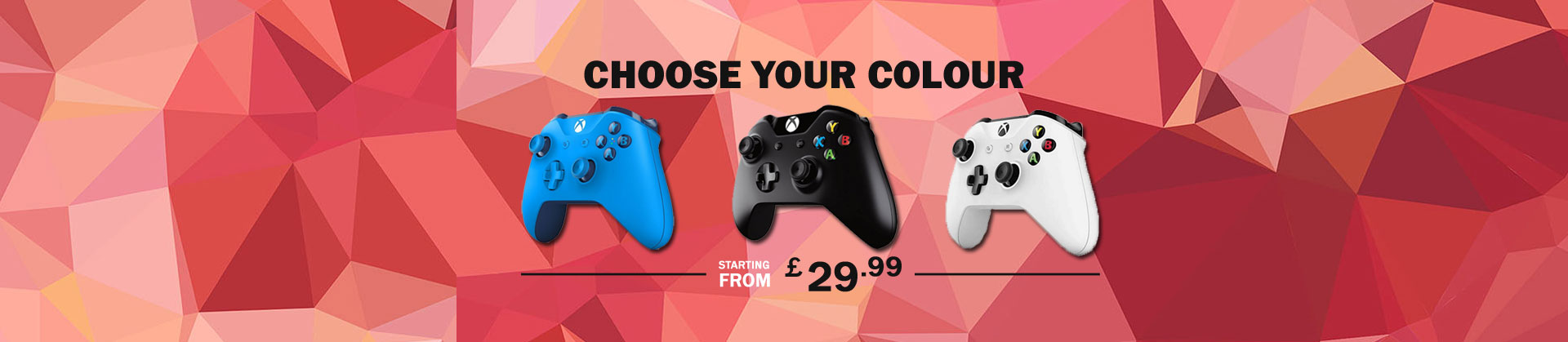 Xbox One Wireless Game Controllers starting from £29.99