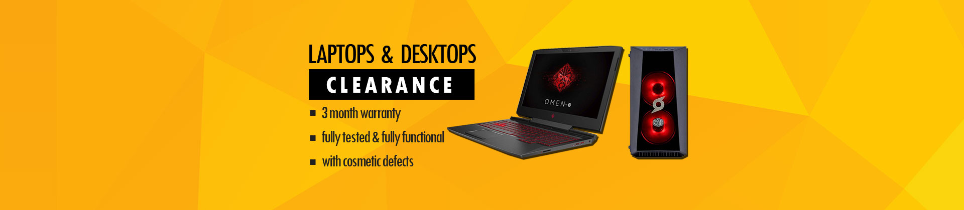 Clearance on C Grade PC & Laptops from only £64.99