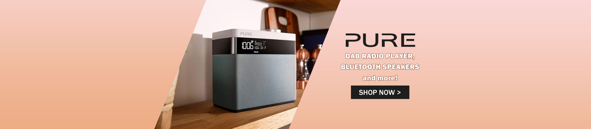 Pure DAB Radio Players & Bluetooth Speakers